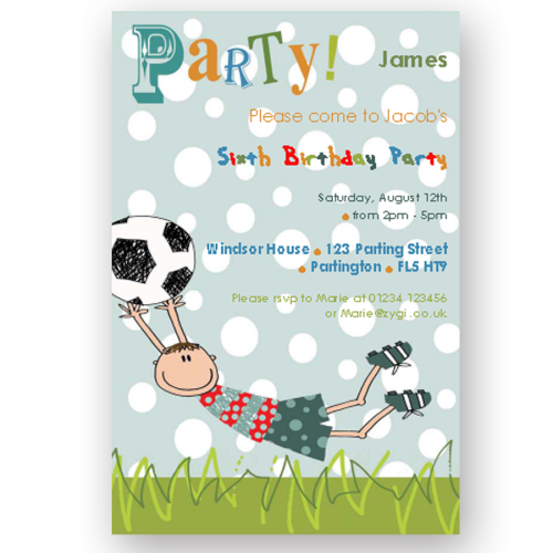Kids Party Invitations - Birthday party invitation uk