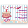 invitation editable birthday cake