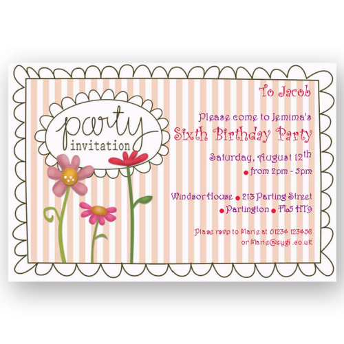 invitation editable floral