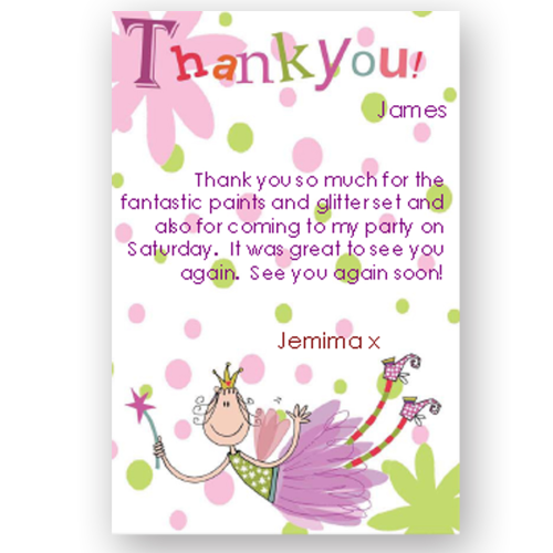 thank you card editable fairy