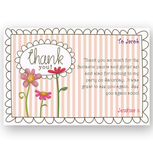 thank you card editable floral