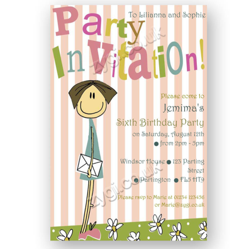 invitation editable flower girl
