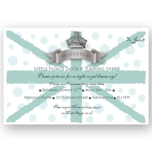 invitation editable union jack blue