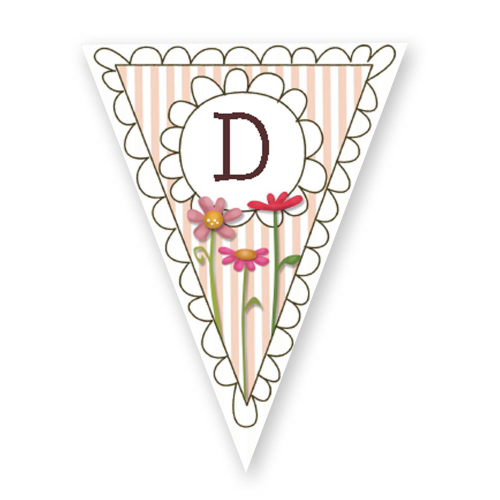 floral bunting editable
