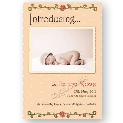 new baby announcement editable retro baby pink
