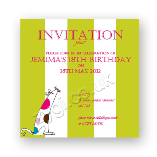 invitation editable spotty mouse