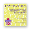 invitation editable cupcake