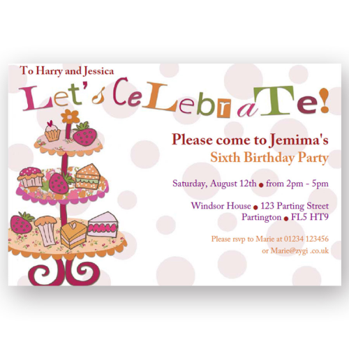 Kids party invitations invitation editable afternoon tea party stopboris Choice Image