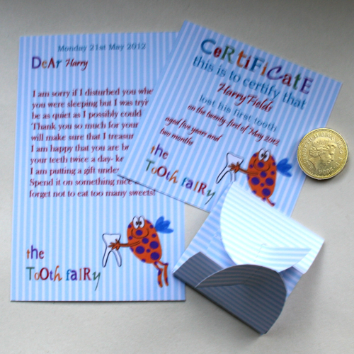 tooth fairy kit editable alternative fairy letter certificate kit blue