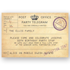 invitation editable retro telegram