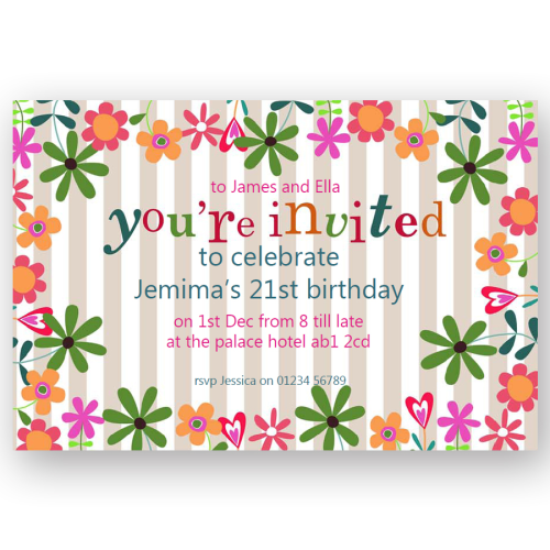 invitation editable flower garden