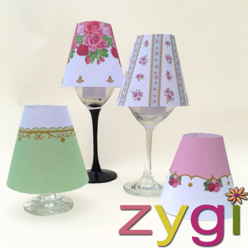 wine glass lamp shades vintage shabby chic