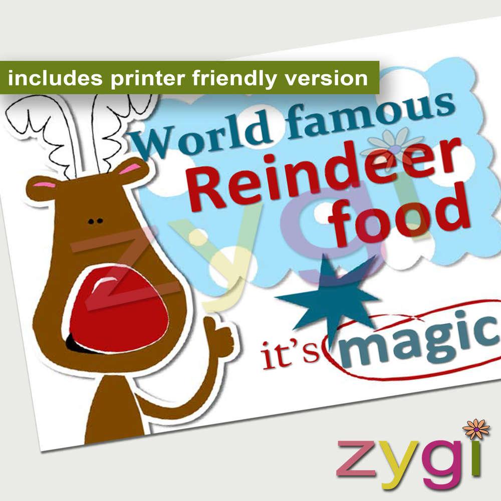 graphic about Reindeer Food Printable named Xmas reindeer food stuff envelope
