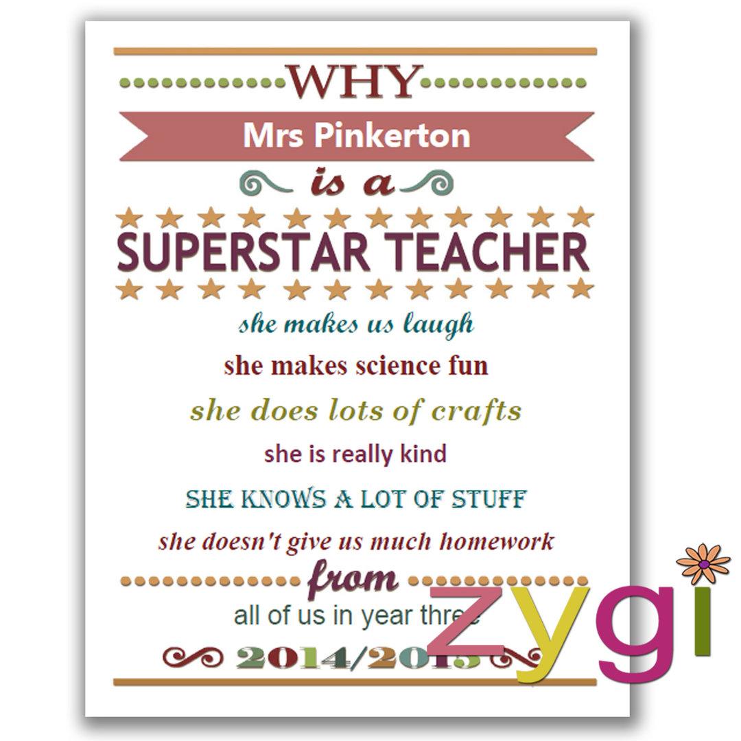 Teacher Appreciation Editable Certificate Funky Pink Editable