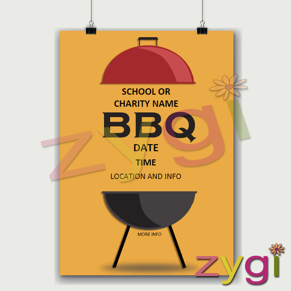 charity pta poster editable barbeque poster editable printables